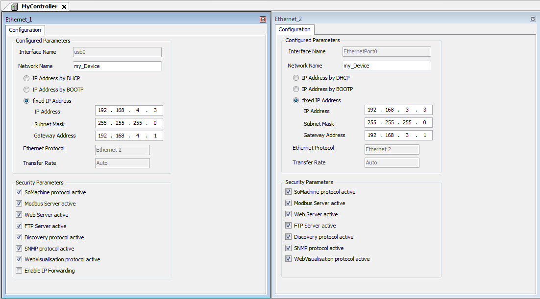 Gateway adress setup in SoMachine - Drives & Systems